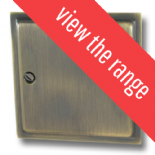 Highline Plate Antique Bronze Fan Isolator Switches